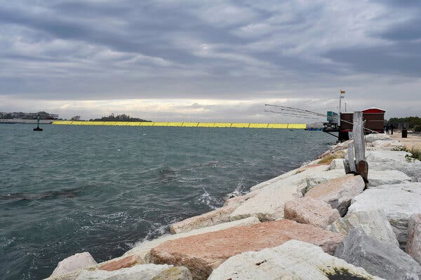 Officials said that water levels inside the lagoon remained steady after the floodgates had been raised.