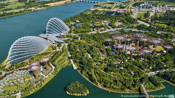 A view over Singapore's Gardens by the Bay