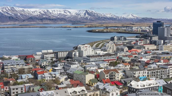 A view of the city of Reykjavik