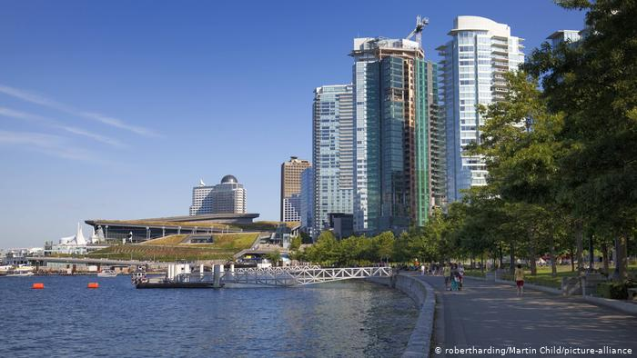 A view of Vancouver's promenade with the Convention Centre