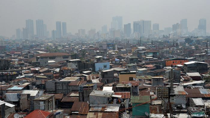 A view of a slum on the outskirts of Manila