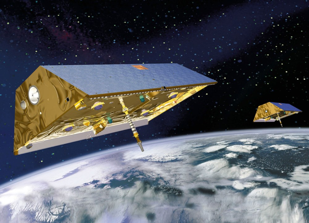 NASA-Gravity-Recovery-and-Climate-Experiment-GRACE-mission-Twin-Satellites