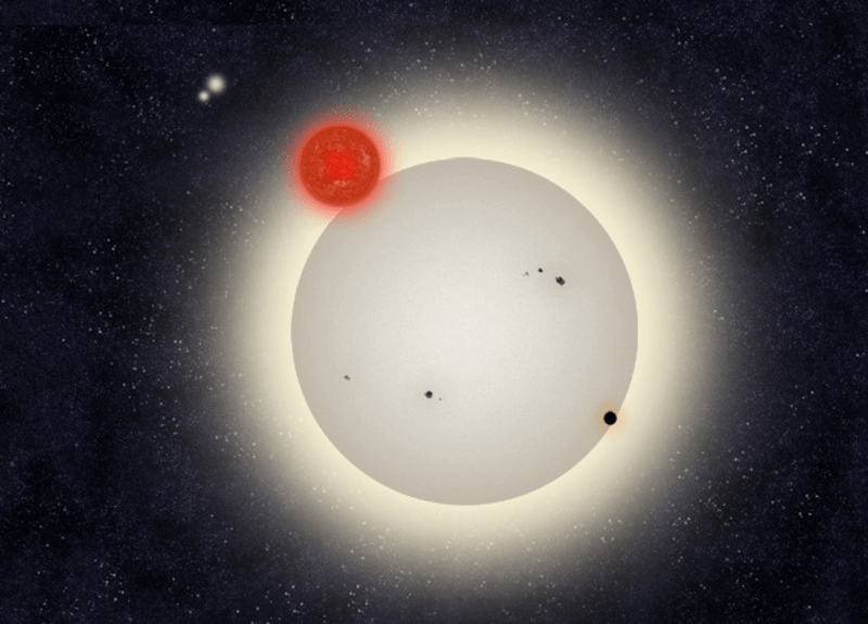 One large and three smaller stars close together.