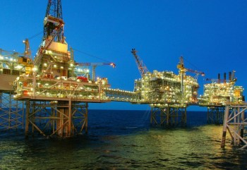 offshore natural gas rig