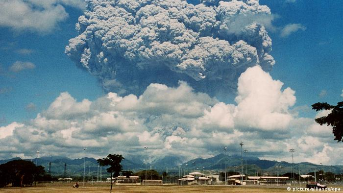 The Pinatubo volcano in the Philippines erupts in 1994