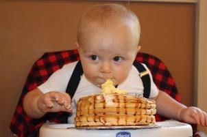 Lumberjack Pancake Smash Cake