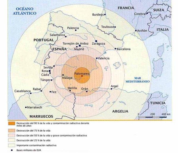 Auswirkung der Atomexplosion