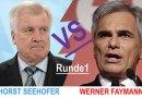 H. Seehofer VS. W. Faymann – Runde 1 in der Flüchtlingsdebatte
