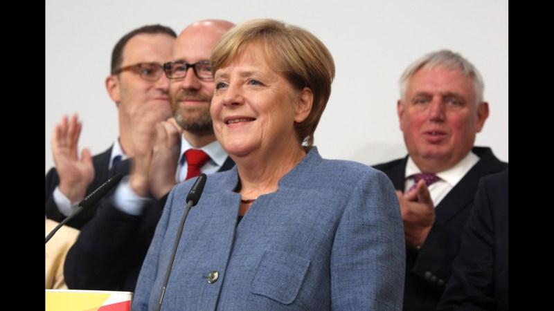 Merkel gewinnt die Bundestagswahl 2017.