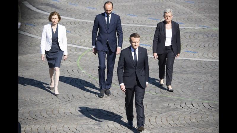 Macron gewinnt die Präsidentschaftswahl in Frankreich.