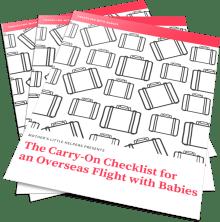 How to Make the Best of an Overseas Flight with Babies | flight with baby | what to pack for flight with baby | carry-on essentials for baby | overseas flight | long-haul flight |