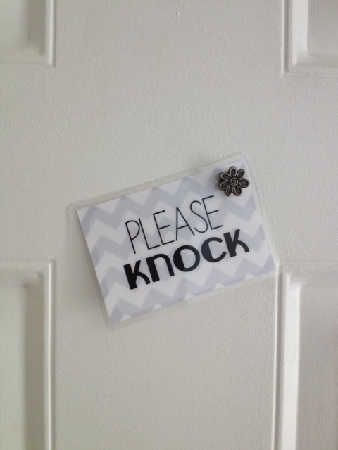 Please Knock Baby Is Sleeping Free Printable Mother S