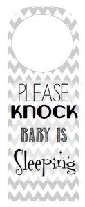 Please Knock, Baby is Sleeping
