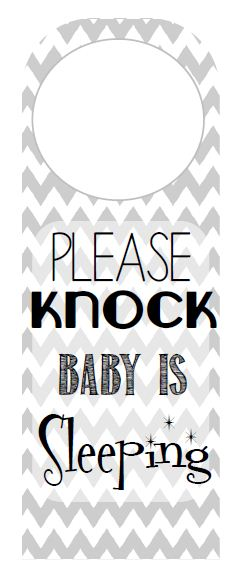 Please Knock Baby Is Sleeping Free Printable Mother S