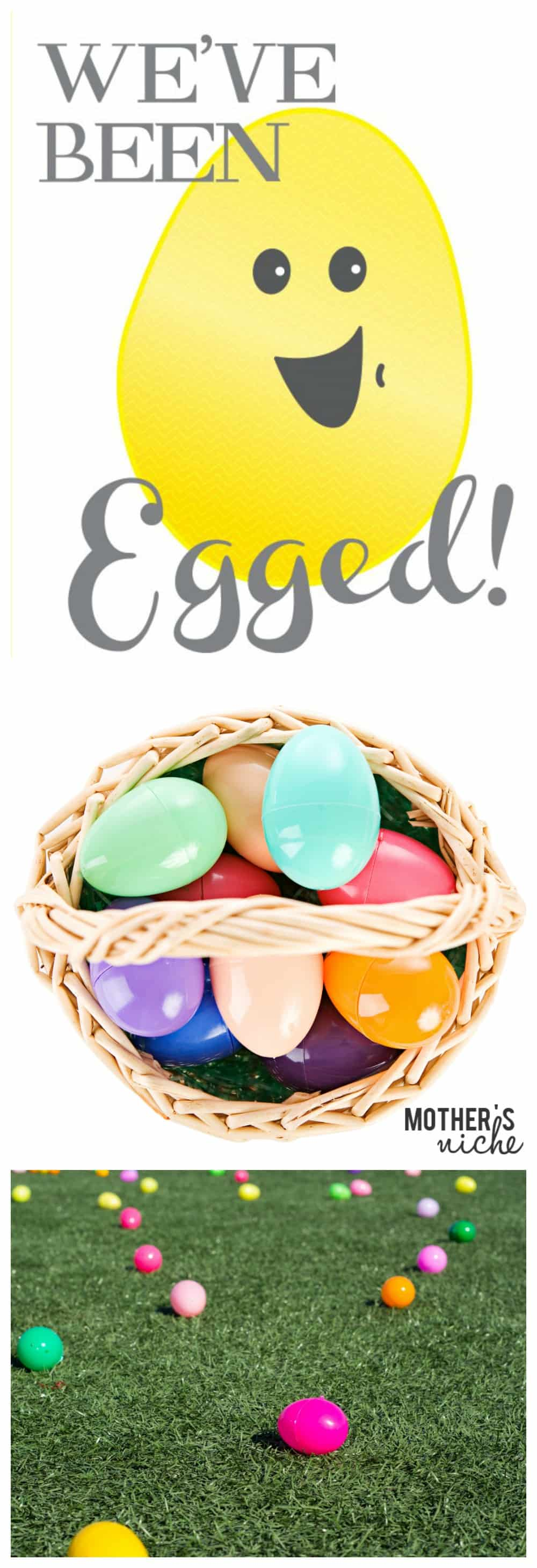 """You've Been Egged!"" Printable. Such a fun way to celebrate the Easter season with your neighbors, or bring cheer to someone that needs it"
