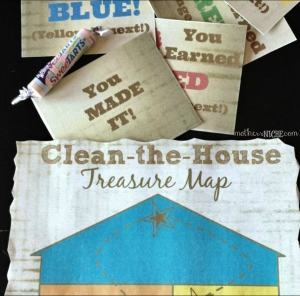 Free Potty Punch Card Printable + Clean the House Treasure Hunt