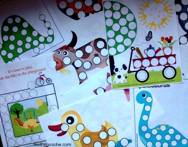 200+ free printables for Do-a-Dot