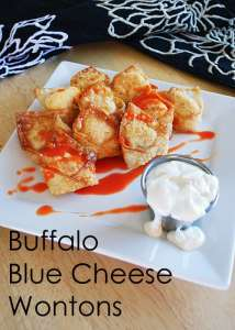 Buffalo Blue Cheese Wontons