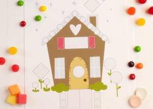 Gingerbread House Shape Activity
