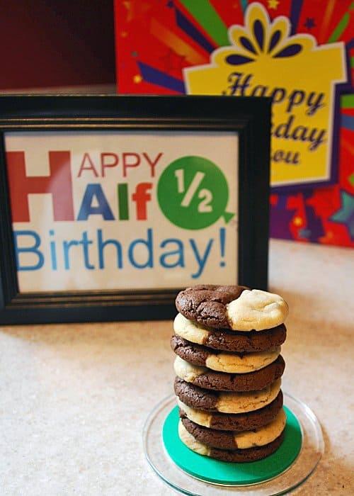 Half Birthday Cookies Printable