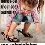I had to learn to be creative with toddler activities once the new baby came and I spent a lot of time nursing