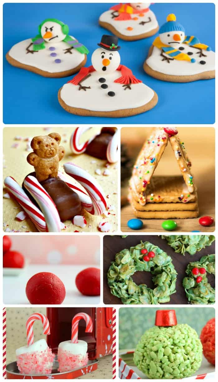 TONS of ideas for Christmas Treats and Crafts to make with the kids this holiday season!