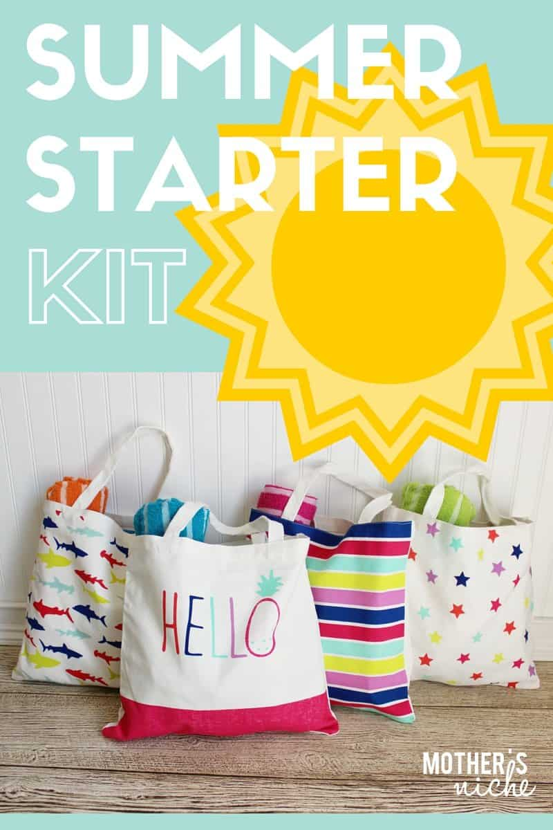 Summer starter kit - Such a cute way to kick off summertime with the kids!
