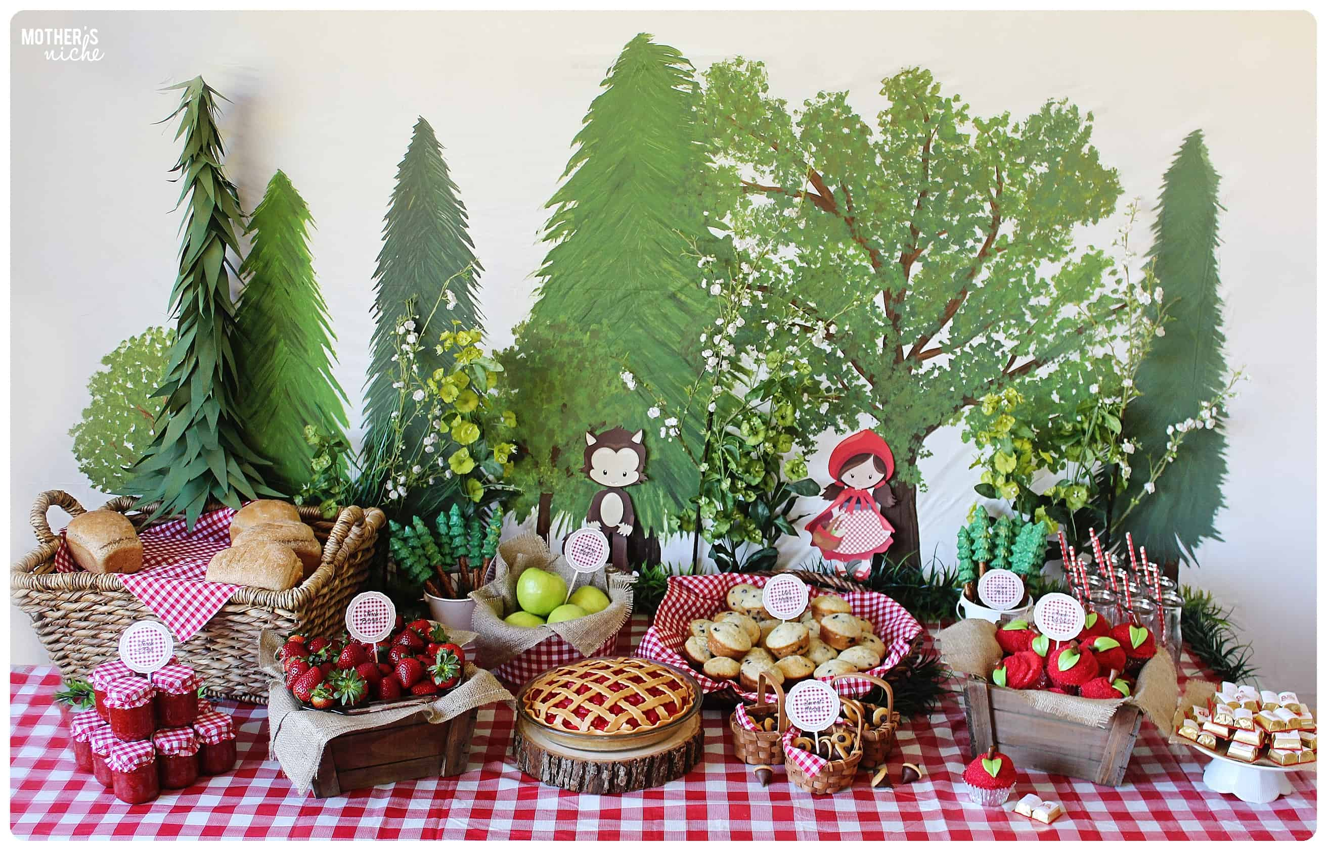 plan the sweetest little red riding hood party party tutorial and
