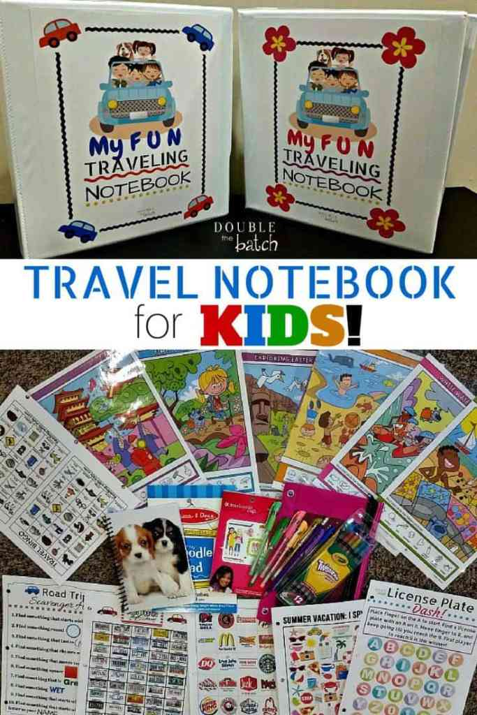 DIY travel notebook for kids! So fun