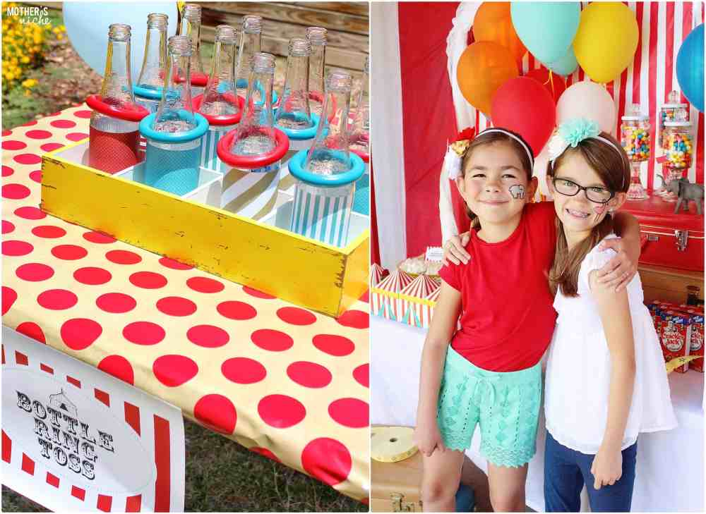 Bottle Ring Toss Circus Party