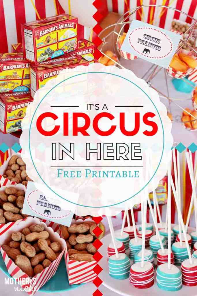 Circus Party with Printables