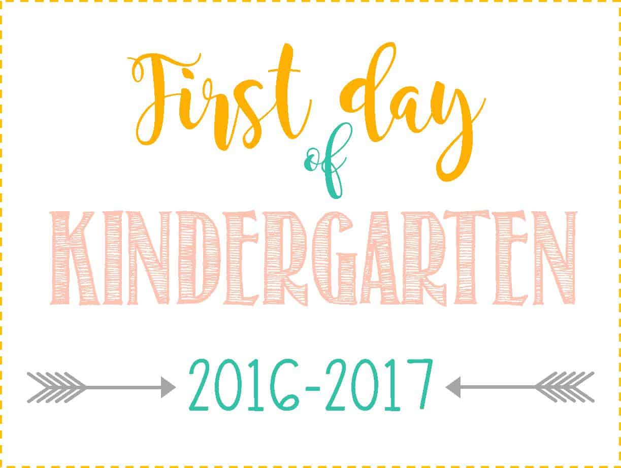 First day of school signs free printables pre school for First day of school sign template