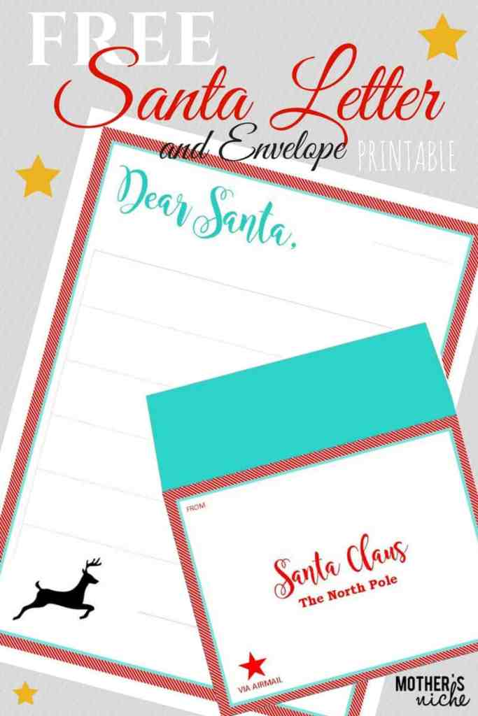 SANTA LETTER and ENVELOPE