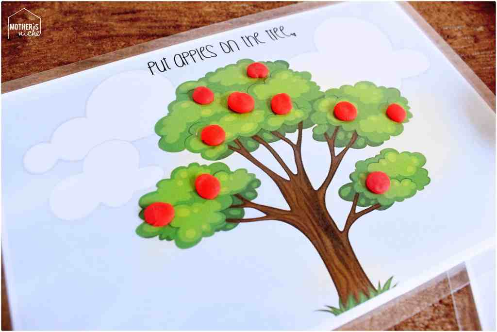Play Dough activity mat printables