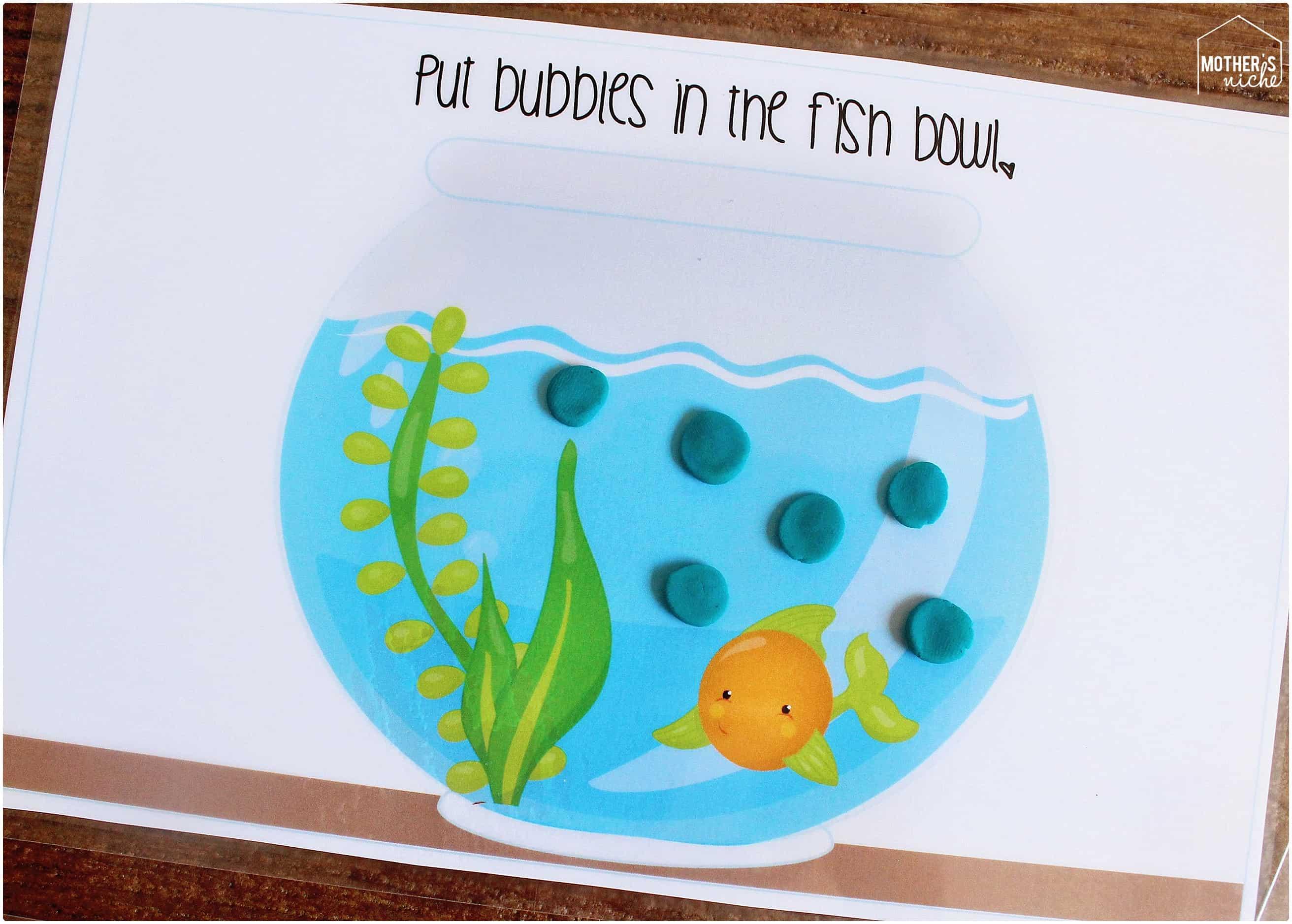gold fish play doh