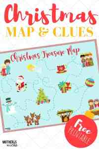 CHRISTMAS TREASURE MAP: FREE PRINTABLE Map and Clues