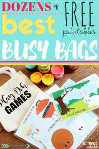 THE BEST BUSY BAGS EVER: TONS of ACTIVITIES