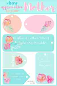 Show LOVE for your MOTHER! FREE PRINTABLE GIFT TAGS and STATIONARY