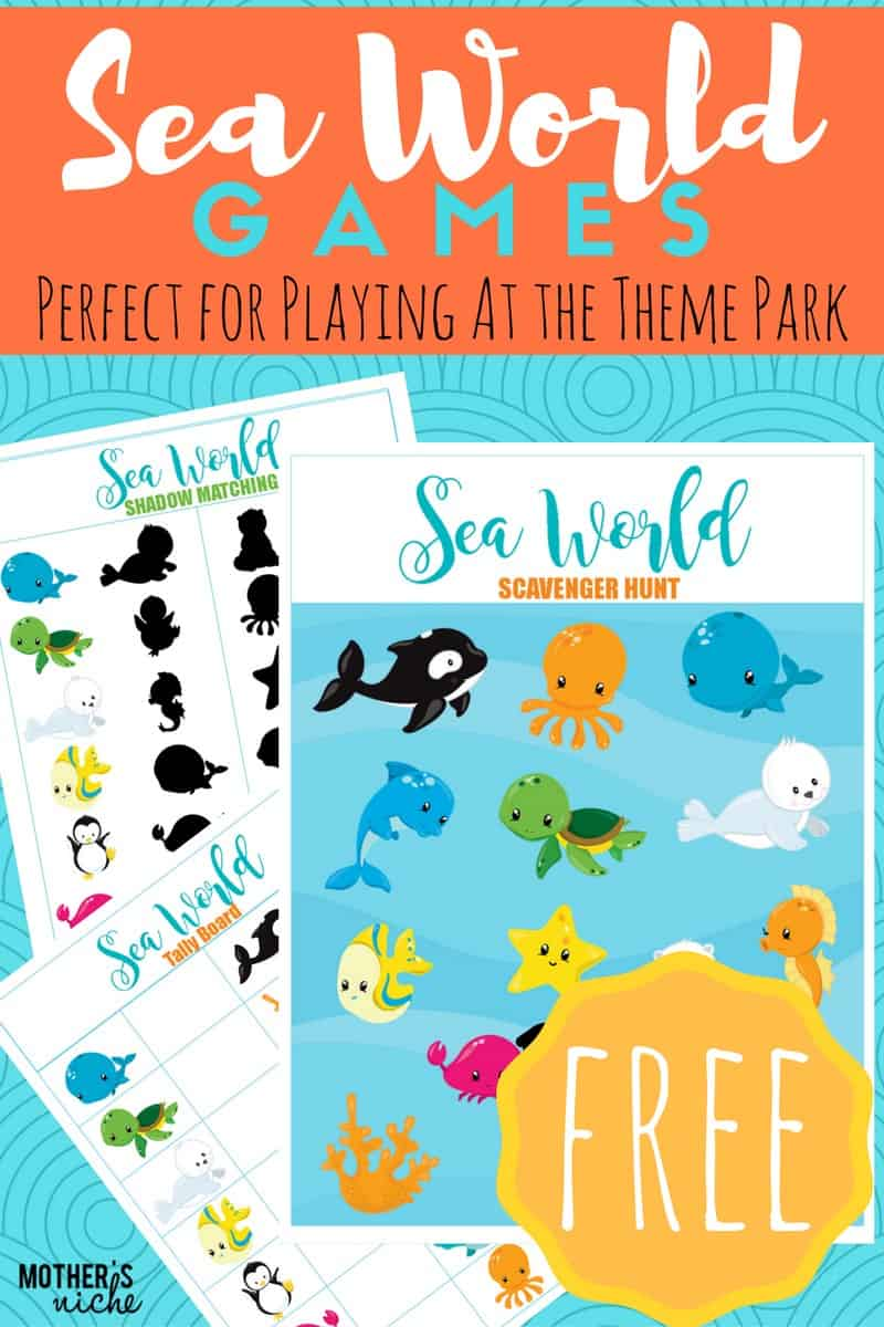 sea-world printable games