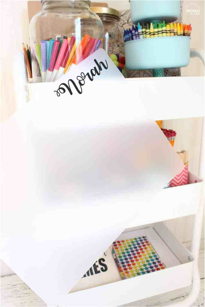 MAKE AN ART CART! art placemats