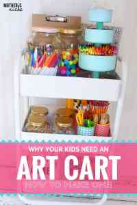 ENCOURAGE CREATIVITY: How to Make an ART CART for Kids!
