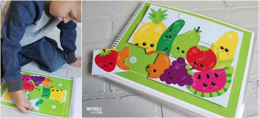 Yummy Food Quiet Book- Learning with adorable food