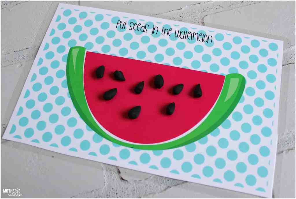 Seeds on the watermelon - Busy bag summer edition