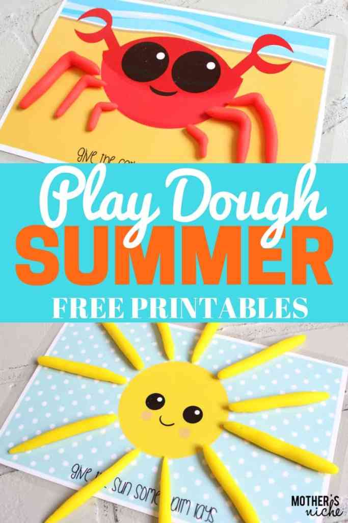 SUMMERTIME Play Dough Busy Bag