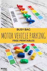 PARKING LOTS AND BOAT DOCKS: Free Busy Bag Printables