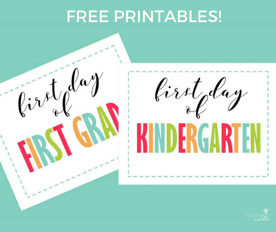 First day of school signs: First Day of Kindergarten sign, Preschool and up to 12th Grade!