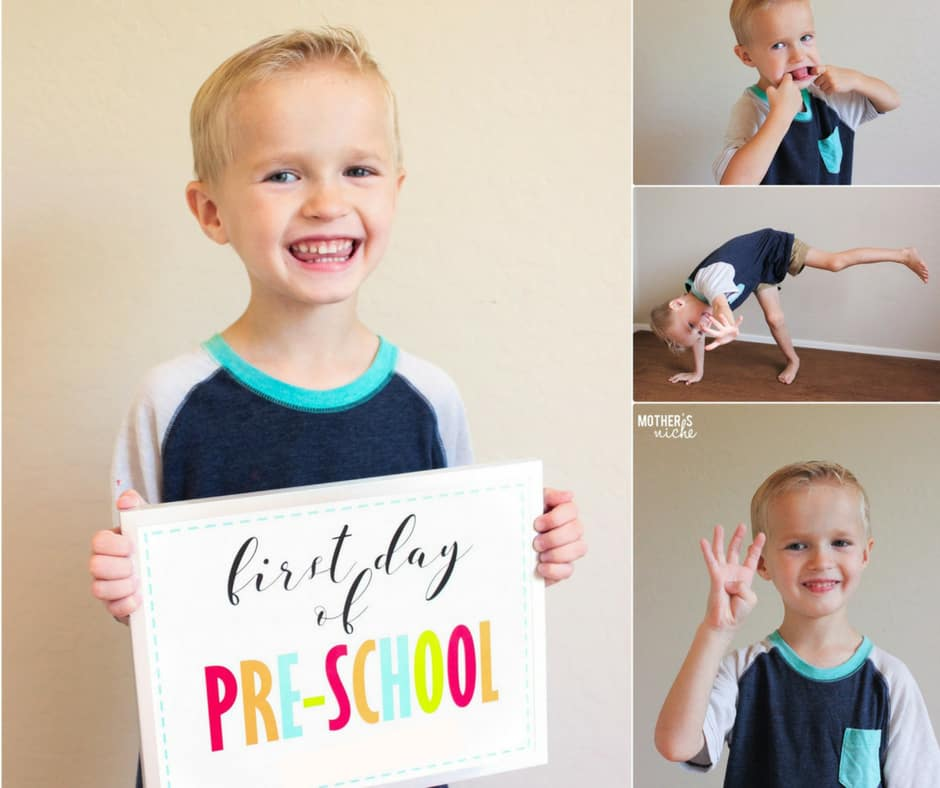 Free First Day of Kindergarten Sign (up to 12th Grade)