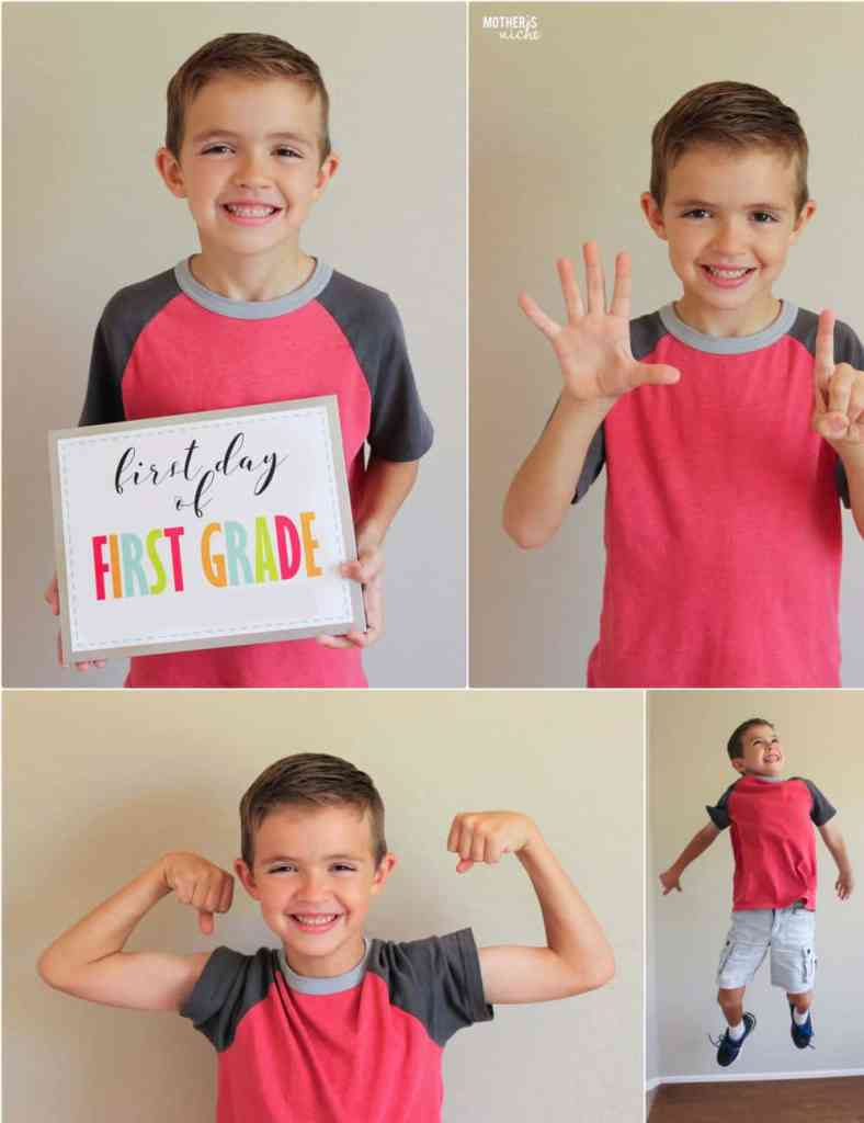Free First Day of Kindergarten Signs, Plus Preschool and up to 12th Grade