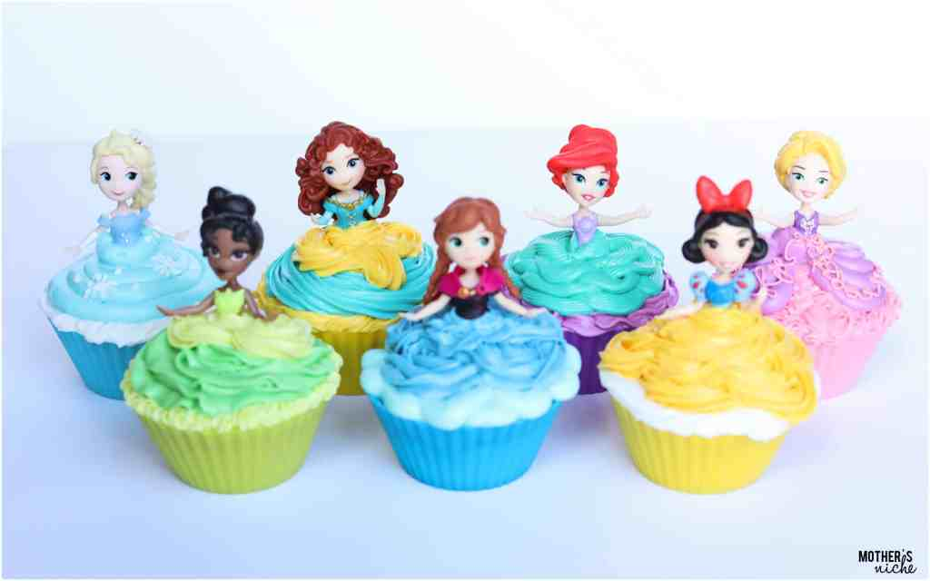 Easy Princess Cupcakes tutorial & Other princess party ideas