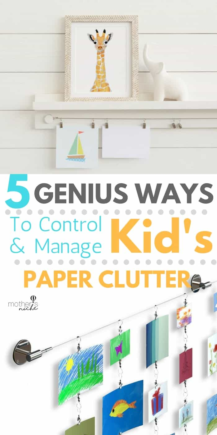 A genius system for managing paper clutter + 5 Awesome ideas for Kids Art Display
